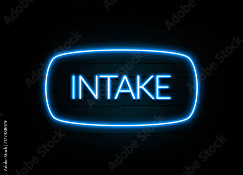 Fotografía  Intake  - colorful Neon Sign on brickwall