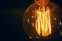Light Bulb Closeup Vintage Ret...