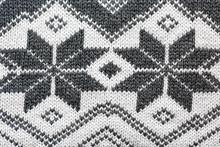 Winter Themed Wool Pattern Macro