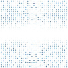 Binary Code Digital Technology Background Made With Zeros And Ones