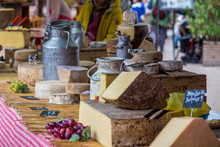 Cheese Stall At French Market