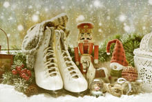 Vintage Toys And Old Skates On...