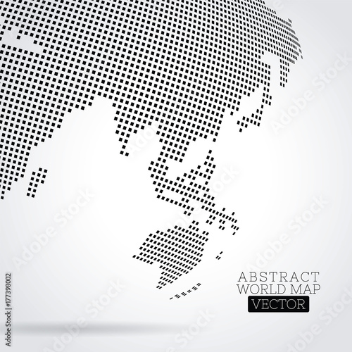 Pixel world map made from small squares buy this stock vector and pixel world map made from small squares gumiabroncs Image collections