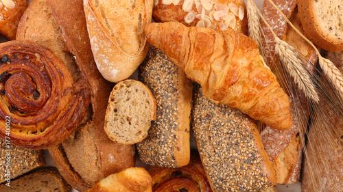 Fotobehang Bakkerij assorted bread