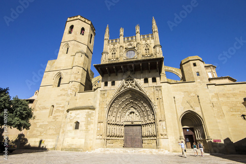 The Holy Cathedral of the Transfiguration of the Lord, also known as the Cathedral of Saint Mary Huesca, a Gothic church in Huesca, in Aragon, north-eastern Spain