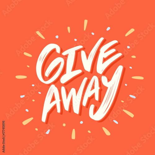 Fotografie, Tablou Giveaway banner. Lettering.