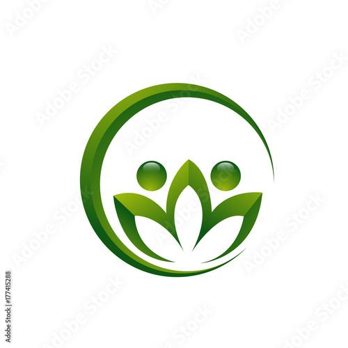 Logo Lotus Flower In Circle Concept Buy This Stock Illustration