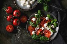 Italian Caprese Salad With Sli...
