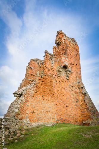 Poster Ruine The ruins of the castle in Novogrudok, Belarus