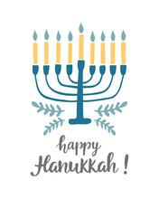 Happy Hanukkah Greeting Card W...