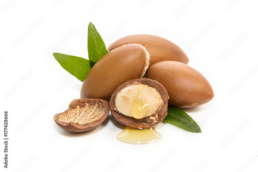 Fototapety, obrazy: Argan seeds, for the production of oil. Very nutritious for skin and hair