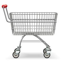 Vector Empty Supermarket Trolley