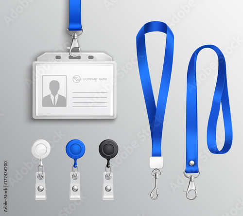 Fotomural Identification Card Badge Accessories Set
