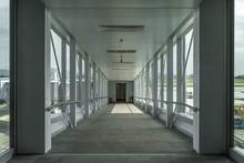 Walkway In Airport, Inside Bri...