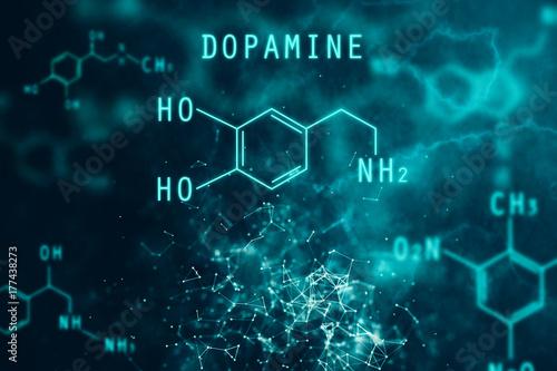 Chemical formula backdrop Tablou Canvas