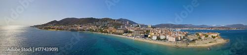 Vista aerea di Ajaccio, Corsica, Francia Canvas Print