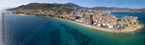Vista aerea di Ajaccio, Corsica, Francia Wallpaper Mural