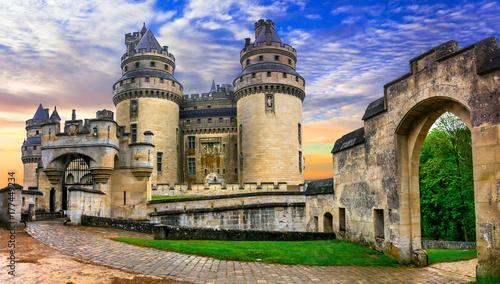 Foto  Famous french castles - Impressive medieval Pierrefonds chateau