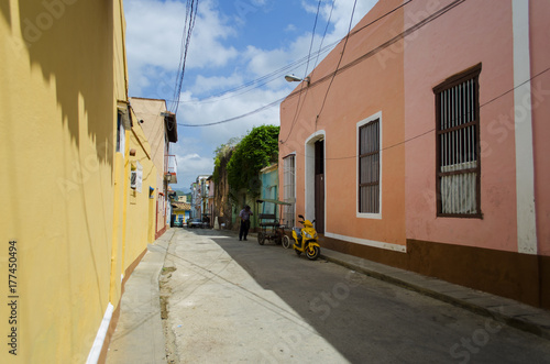 Colorful Street Scene. Trinidad. Cuba Canvas Print