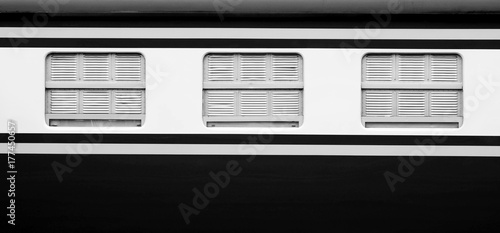 window of vintage bogie train Wallpaper Mural