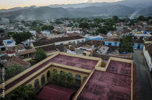 Trinidad Cuba from above at sunset Canvas Print