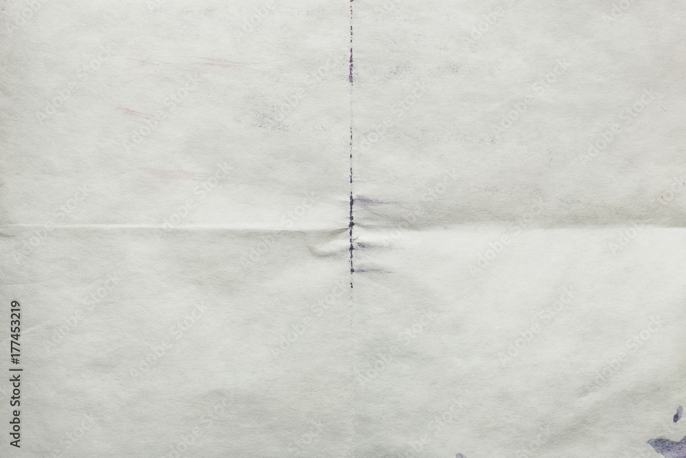 Fototapety, obrazy: Sheet of old paper folded, abstract background
