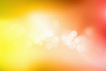 Orange Bokeh Abstract Light Background