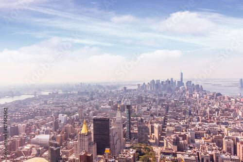 Papiers peints Barcelona Manhattan air view