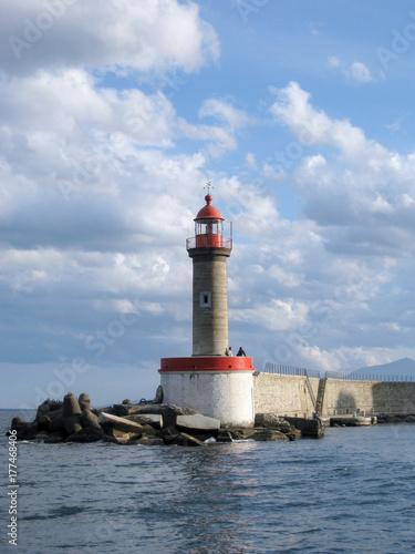 Zdjęcie XXL Latarnia morska, Morze Śródziemne, czerwony