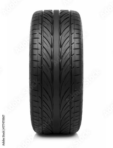 Fotografia Car tire isolated on white background.