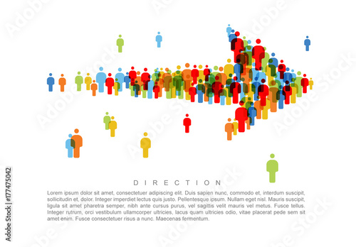 direction people icon arrow infographic  buy this stock
