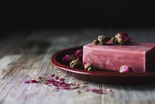 Soap And Dried Rose Buds
