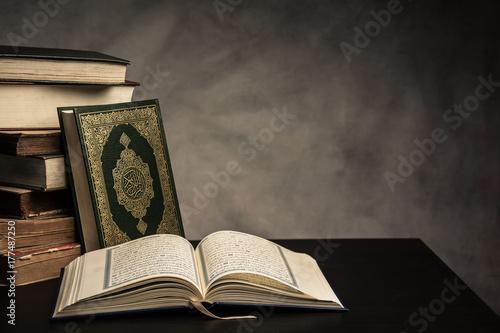 Obraz na płótnie Koran - holy book of Muslims ( public item of all muslims ) on the table , still