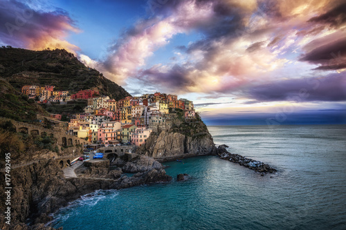 Manarola during sunset