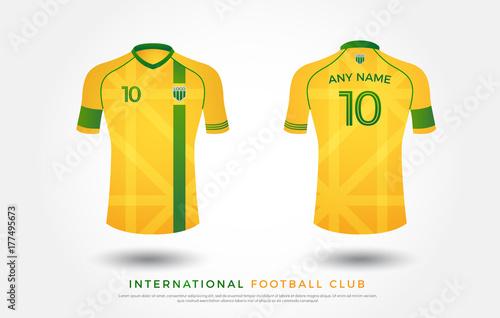 b2e7129c13f soccer t-shirt design uniform set of soccer kit. football jersey template  for soccer