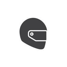 Motorcycle Helmet Icon Vector,...