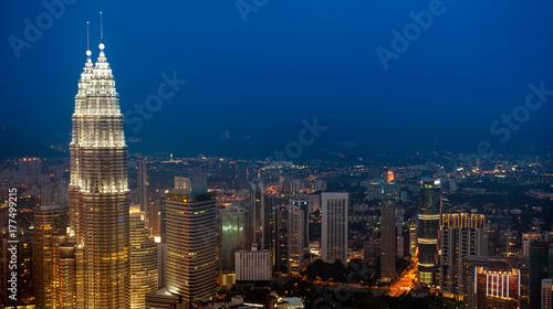 Aerial View Kuala Lumpur city skyline