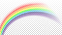 Rainbow Icon. Shape Arch Reali...