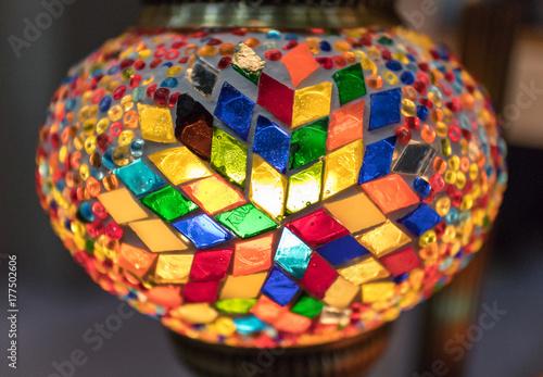 Fotografie, Obraz  stained glass lamp