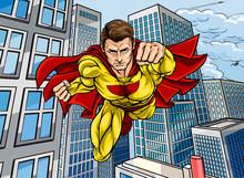 Superhero City Scene