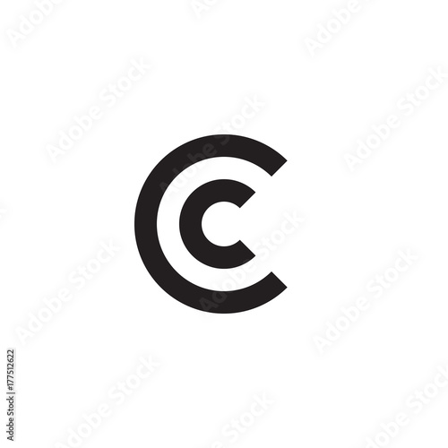 Initial Letter Cc Cc C Inside C Linked Line Circle Shape Logo Monogram Black Color Buy This Stock Vector And Explore Similar Vectors At Adobe Stock Adobe Stock