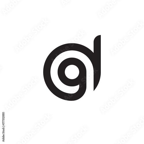 Initial letter dg gd g inside d linked line circle shape logo initial letter dg gd g inside d linked line circle shape logo altavistaventures Choice Image
