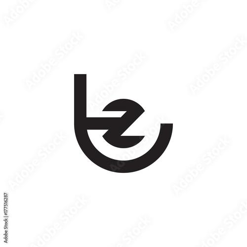 Initial letter tz, zt, z inside t, linked line circle shape