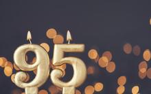 Gold Number 95 Celebration Can...