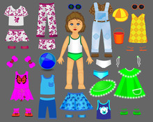 Paper Doll Clothes And Set F...