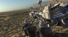 The Mars Rover On Mars 3D Illu...