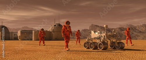 Photo Mars colony