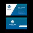 Business card template design blue tone.
