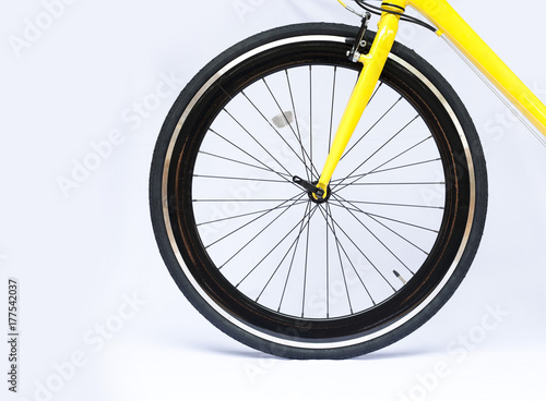 Foto op Plexiglas Fietsen close up of bicycle on white background