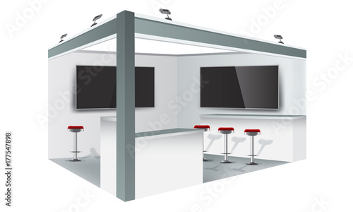 Exhibition Stand White : Exhibition stand display trade booth mockup design white and grey